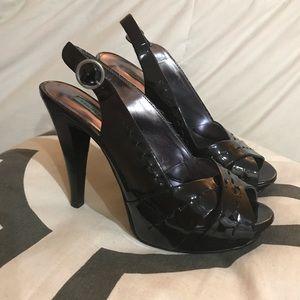 Chinese Laundry patent leather platform heels.
